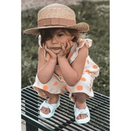 FR1 Sandale pentru copii cu gumă cu bule albastre cu nervuri albastru 7