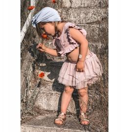 FR1 Sandale pentru copii cu brodat Golden Batilda de aur 7
