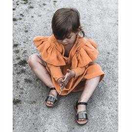 FR1 Sandale pentru copii cu paiete Black Blake negru multicolor 7