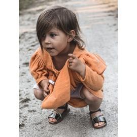 FR1 Sandale pentru copii cu paiete Black Blake negru multicolor 9