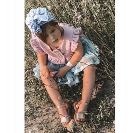 FR1 Sandale pentru copii cu paiete Rose Gold Blake de aur 6