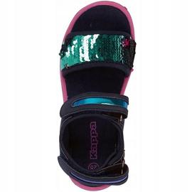 Sandale pentru copii Kappa Seaqueen K Încălțăminte copii bleumarin-roz 260767K 6722 albastru marin 1