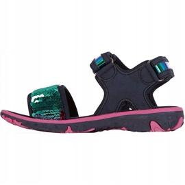 Sandale pentru copii Kappa Seaqueen K Încălțăminte copii bleumarin-roz 260767K 6722 albastru marin 2