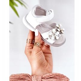 Apawwa Sandale pentru copii cu velcro alb Maysa 1