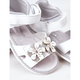 Apawwa Sandale pentru copii cu velcro alb Maysa 2