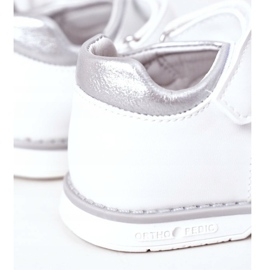 Apawwa Sandale pentru copii cu velcro alb Maysa 3