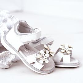 Apawwa Sandale pentru copii cu velcro alb Maysa 4