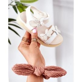 Apawwa Sandale pentru copii cu fluturi Velcro alb Malvika 2