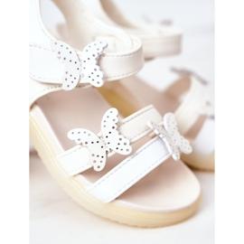 Apawwa Sandale pentru copii cu fluturi Velcro alb Malvika 1