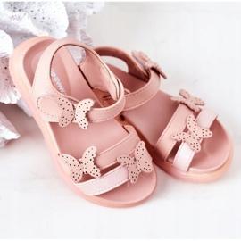 Apawwa Sandale pentru copii cu velcro fluture roz Malvika 3