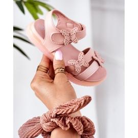 Apawwa Sandale pentru copii cu velcro fluture roz Malvika 2