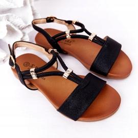S.Barski Sandale pentru copii S. Bararski Comfort Black negru 4