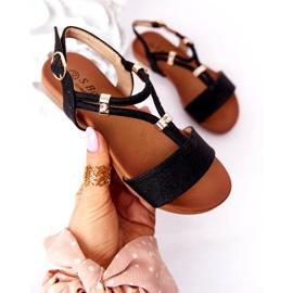 S.Barski Sandale pentru copii S. Bararski Comfort Black negru 3