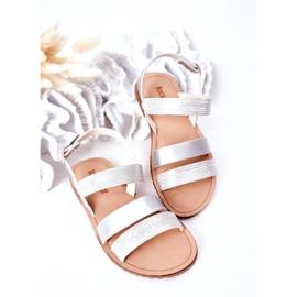 FR1 Sandale argintii Natalie Shiny pentru copii 1
