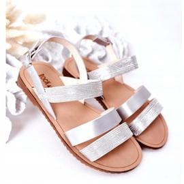 FR1 Sandale argintii Natalie Shiny pentru copii 2