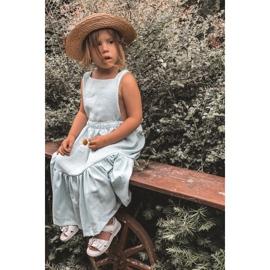 Apawwa Sandale pentru copii cu velcro alb Maysa 7