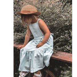 Apawwa Sandale pentru copii cu velcro alb Maysa 6