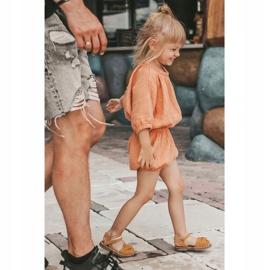 FRROCK Sandale galbene Goofy Velcro pentru copii 5