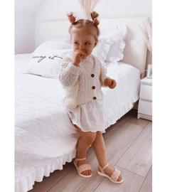 FR1 Sandale pentru copii cu Adella roz împletit 3