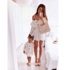 FR1 Sandale pentru copii cu Adella roz împletit 4