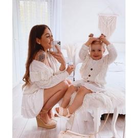 FR1 Sandale pentru copii cu Adella roz împletit 5