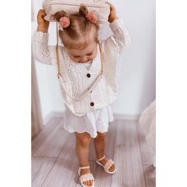 FR1 Sandale pentru copii cu Adella roz împletit 2