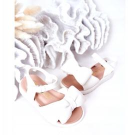 FR1 Sandale pentru copii cu un arc Abbie alb 4
