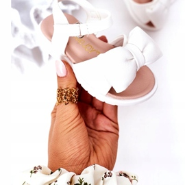 FR1 Sandale pentru copii cu un arc Abbie alb 3