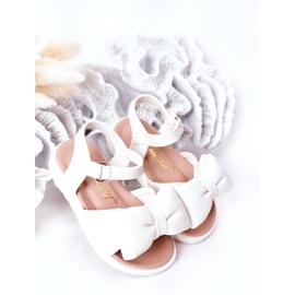 FR1 Sandale pentru copii cu un arc Abbie alb 2