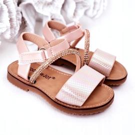 FR1 Sandale pentru copii cu paiete Pink Blake roz 1