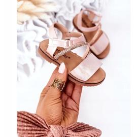 FR1 Sandale pentru copii cu paiete Pink Blake roz 2